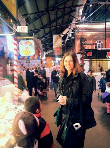 Choosing cheese at the St. Lawrence Market
